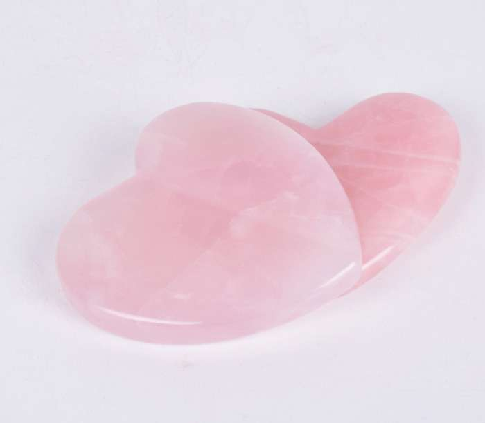 Rose Quartz Heart Facial Guasha