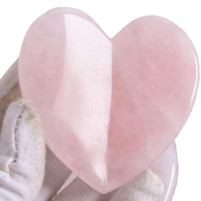 Wholesale Rose Quartz Heart Facial Sculptor