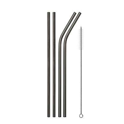 Black Metal straws