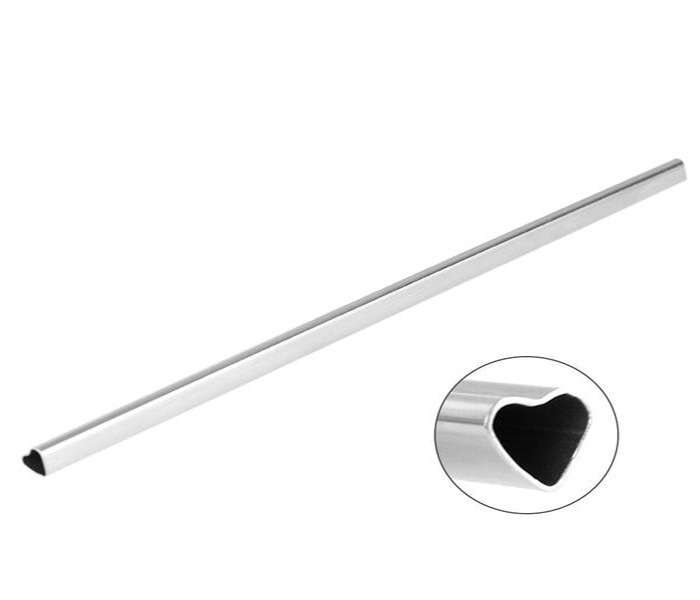 heart-shaped stainless steel straws