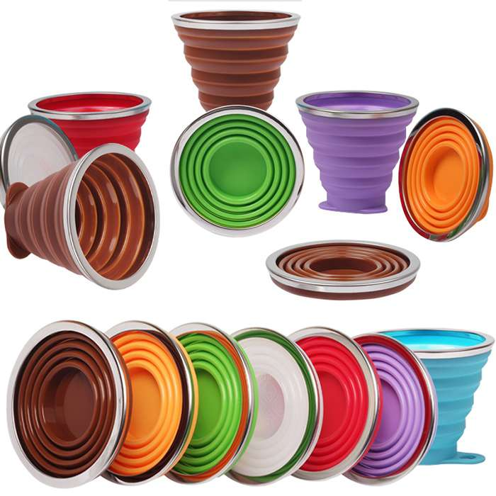 collapsible silicone cup factory