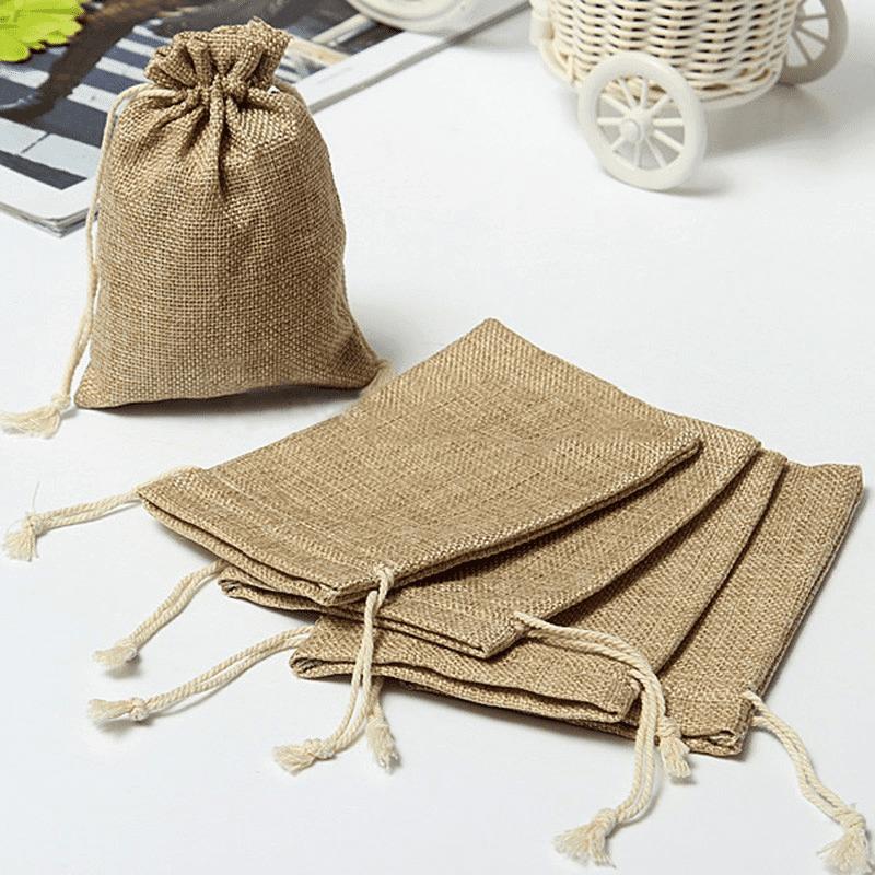 linen drawstring bags bulk