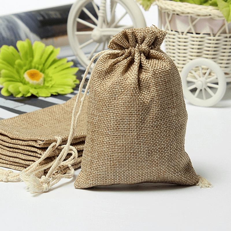 linen drawstring bags wholesale