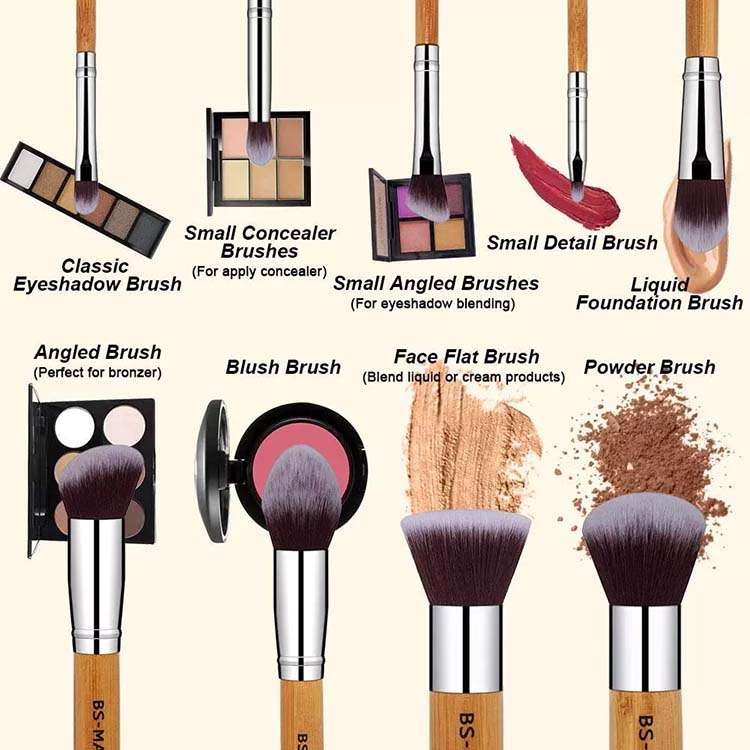 bamboo makeup brush bulk