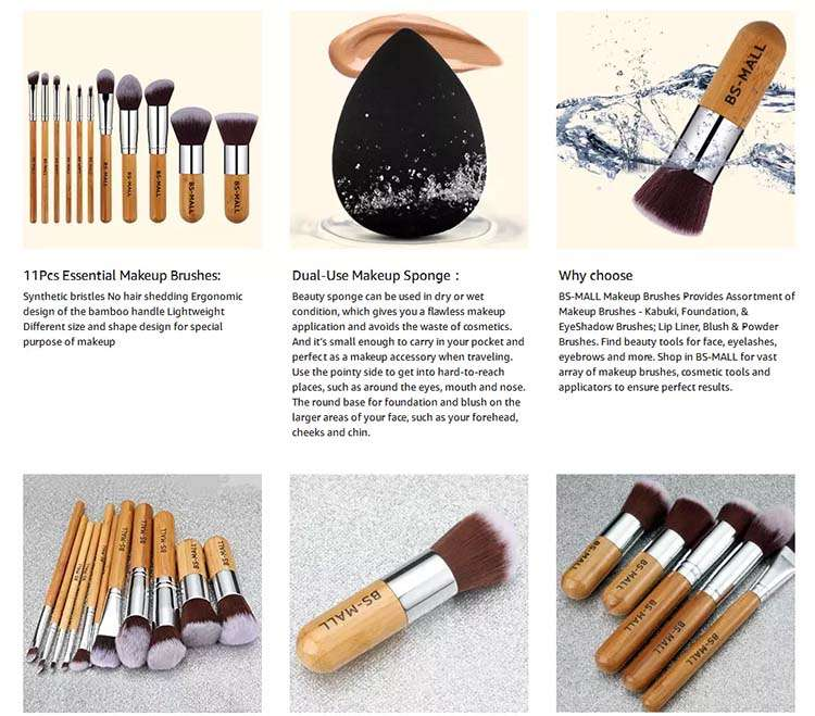 bamboo makeup brush factory