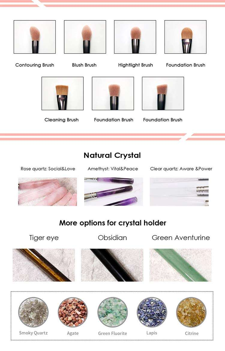 crystal makeup brushes factory