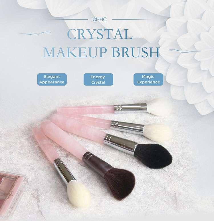 rose quartz makeup brushes factory