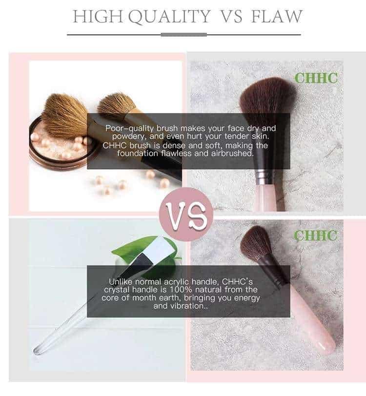rose quartz makeup brushes supplier