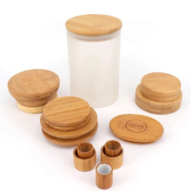 Bamboo Lids Wholesale & Glass Jar Bamboo Lid Wholesale