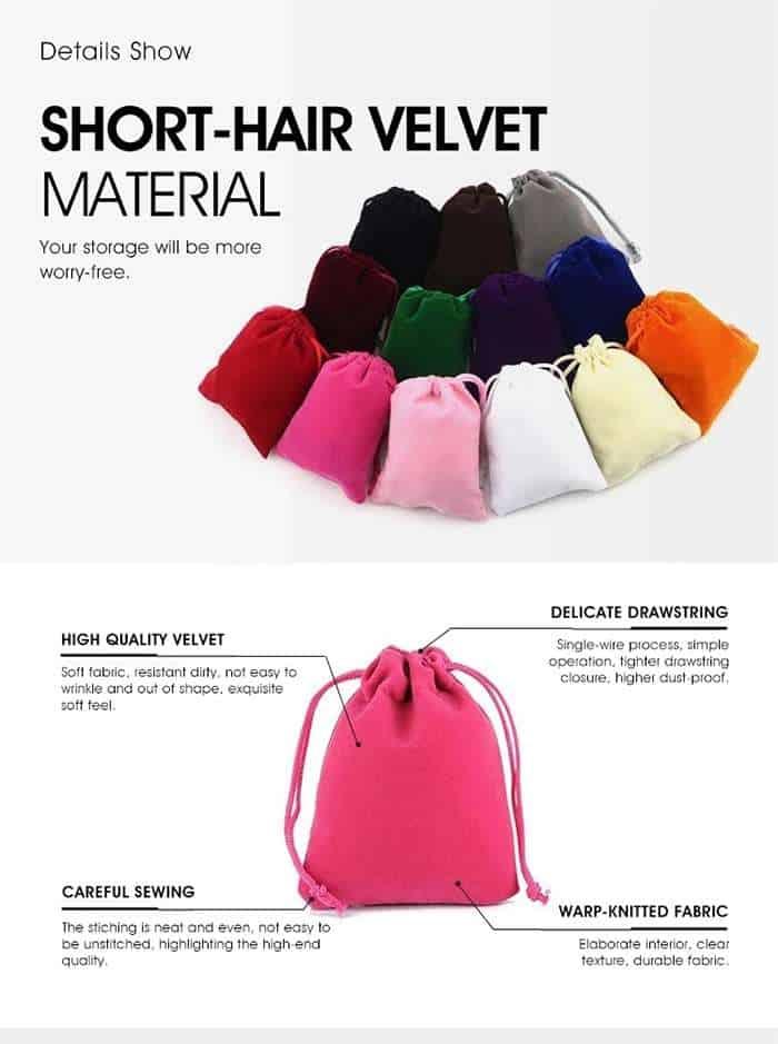 Velvet Bag Wholesale Factory & Velvet Pouches Wholesale Manufacturer &velvet jewelry pouches wholesale