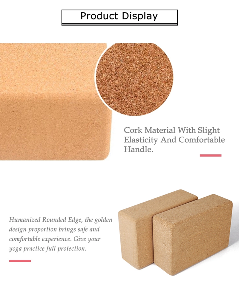 Cork yoga block supplier