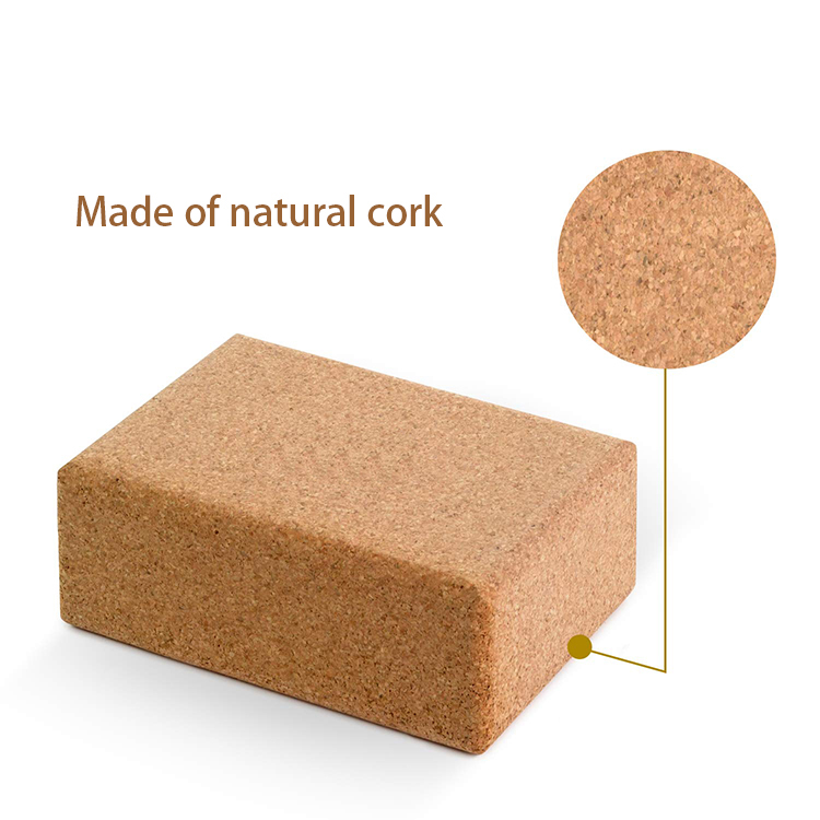Cork yoga block manufacture