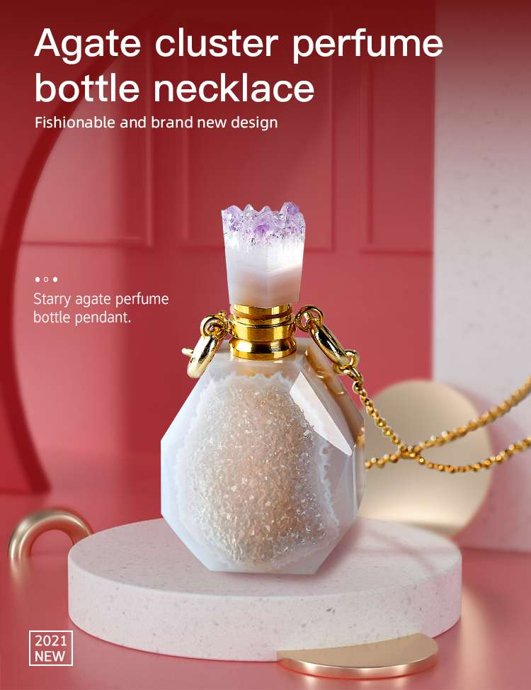 Crystal Perfume Bottle Necklace factory