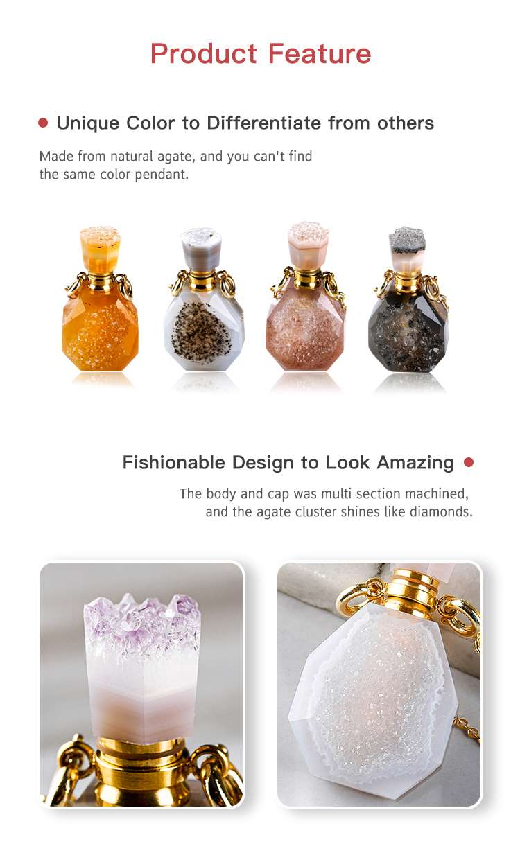 Crystal Perfume Bottle Necklace supplier