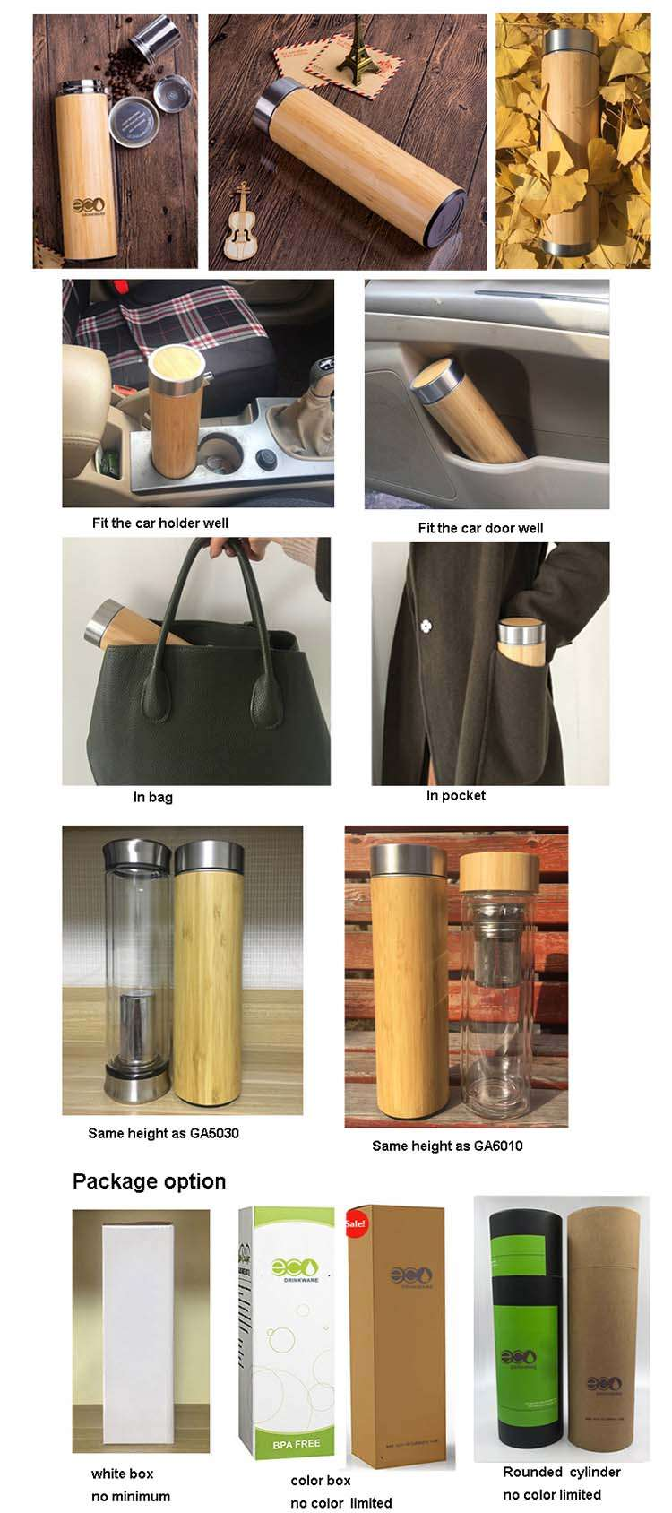 bamboo bottle package