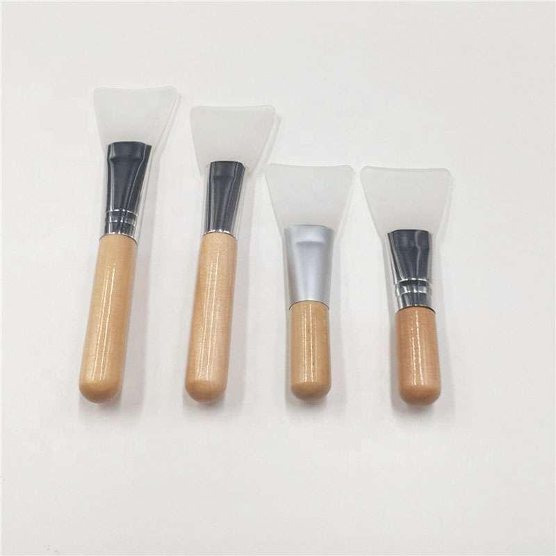 custom wood silicon mask brush