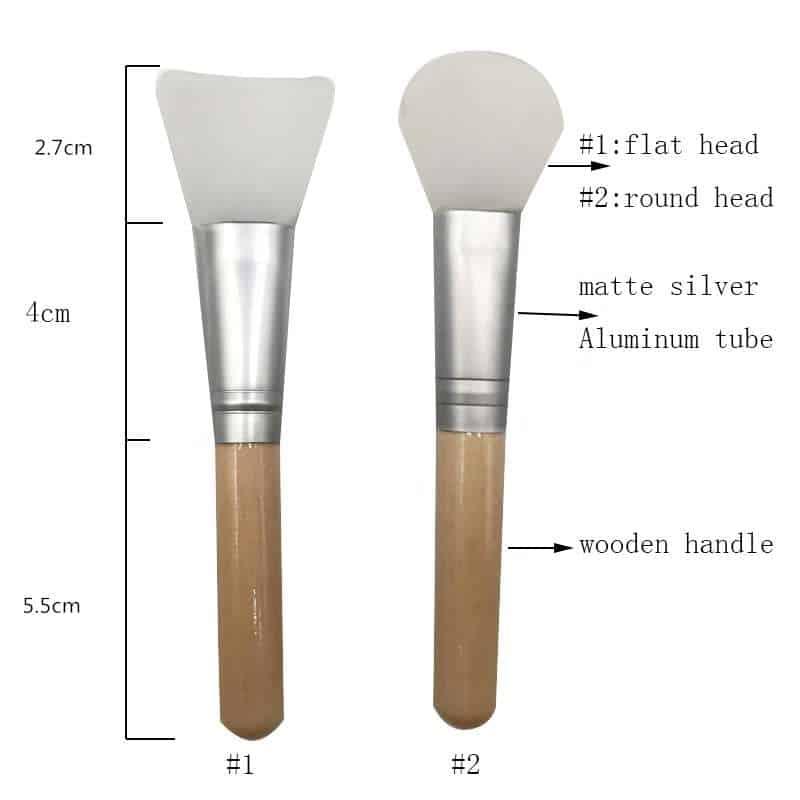 custom wooden silicon mask brush