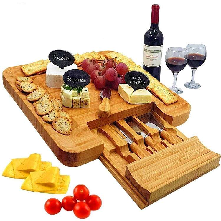 wholesale bamboo cheese board manufacturer