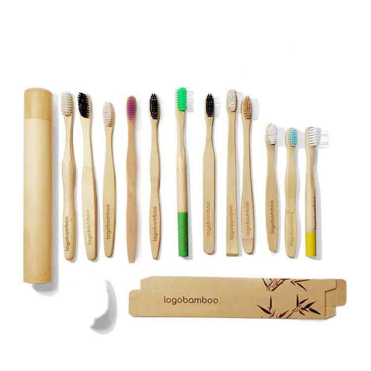 logo bamboo toothbrush wholesale